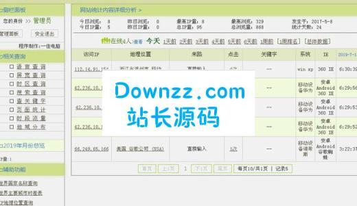 网站统计分析系统v4.71单用户版